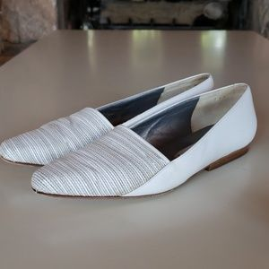 Via Spiga Cream Flats